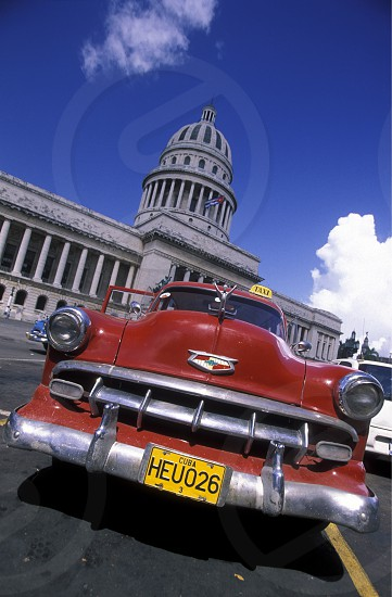 the capitolio National in the city of Havana on Cuba in the caribbean sea. photo
