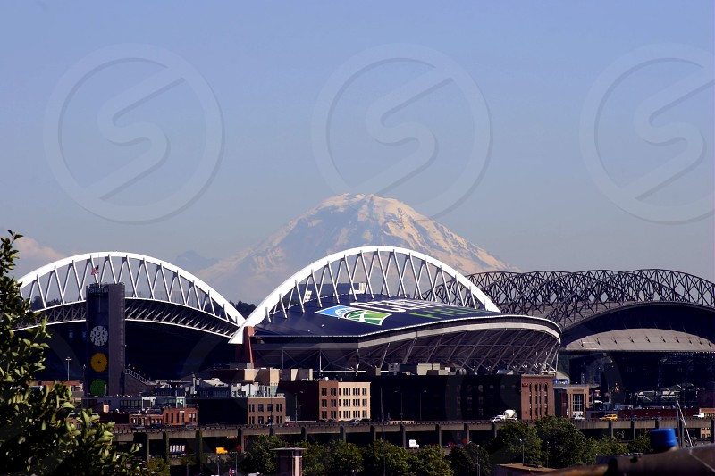 Mt. Rainer from Seattle photo