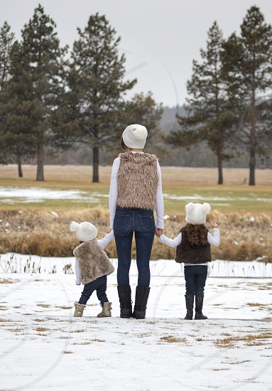 mom and toddler daughters photo