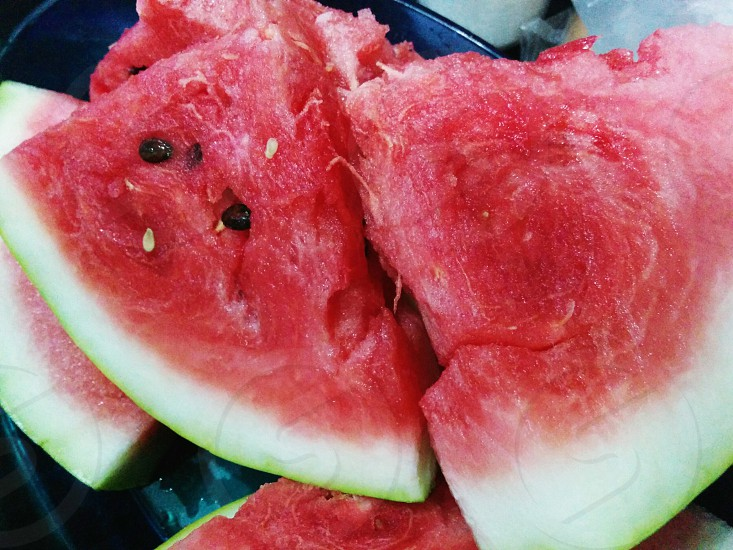 watermelon color red pink green photo