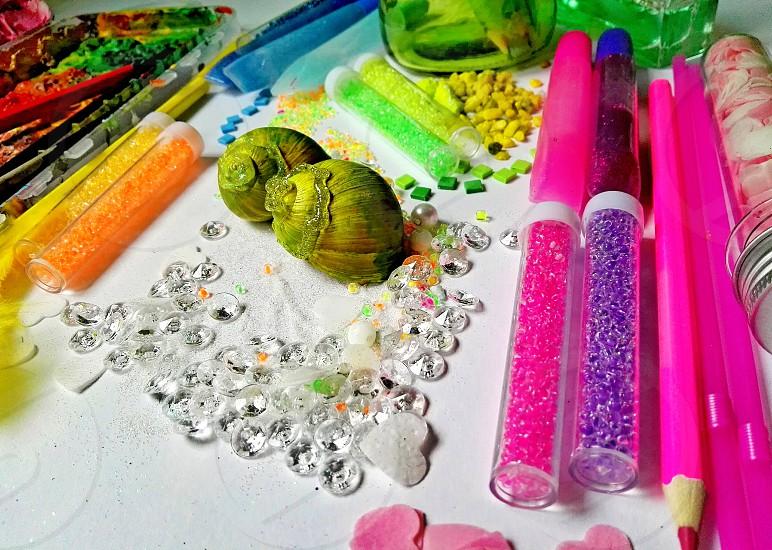 creativity have no borders colorful tools photo