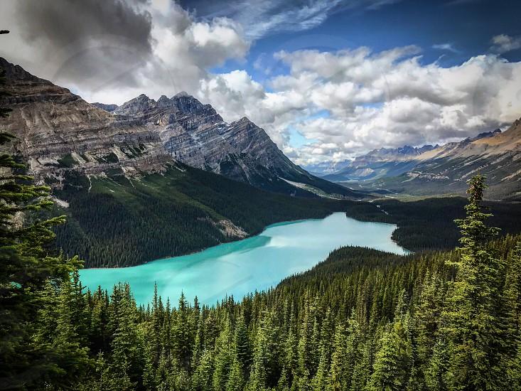 Peyto Lake Banff National Park Canada. photo