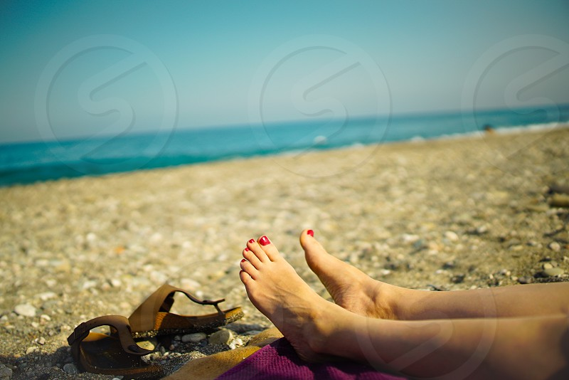 Relaxing at the beach photo