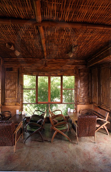 a tea shop at the village of Mae Salong north of the city Chiang Rai in the province of Chiang Rai in the north of thailand in southeastasia.  photo