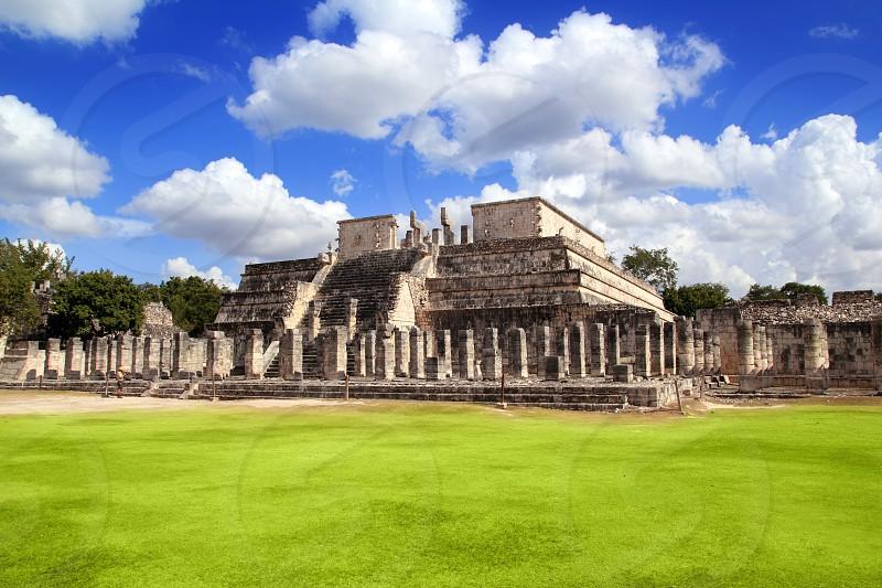 Chichen Itza Warriors Temple Los guerreros Mexico Yucatan photo