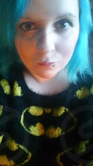 modelling batman primark purchase kawaii alternative blue hair photo