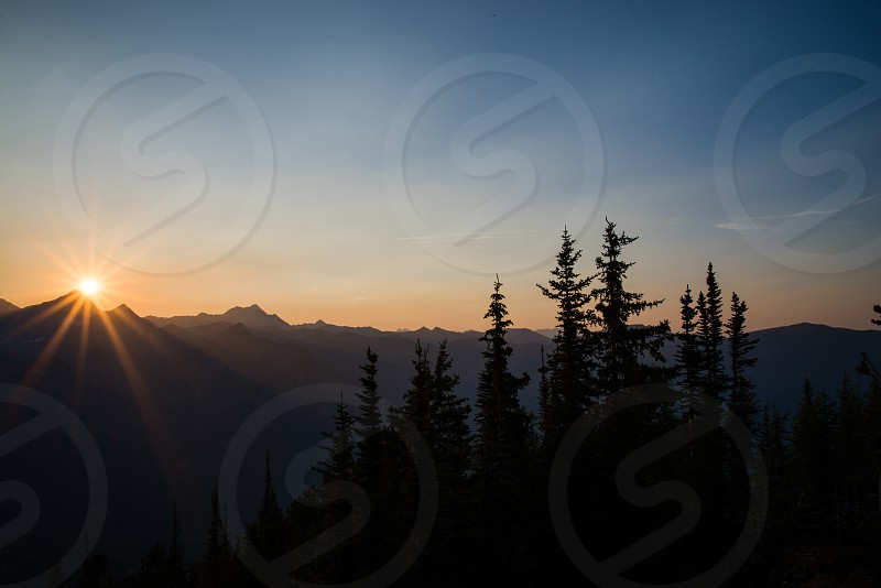 1000 Peaks sunset view in Panorama BC Canada photo