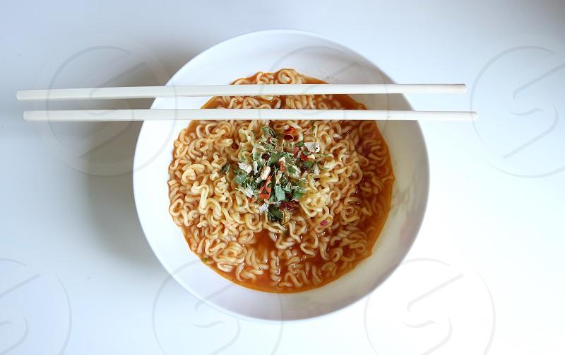 #instantnoodle #food #noodles #noodle #ramen #bowl #chopstick #spicy photo