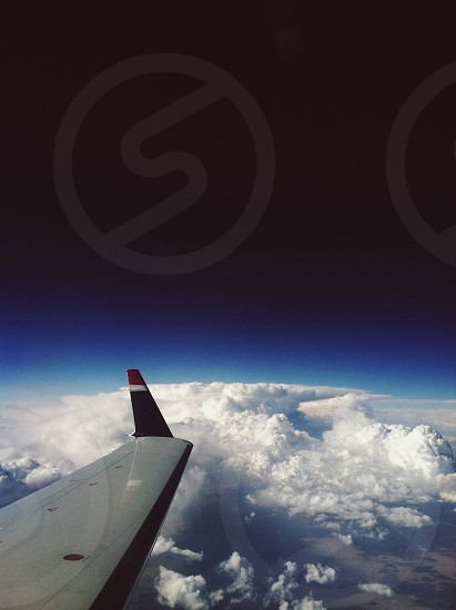 Above the clouds with the most amazing view ever. photo