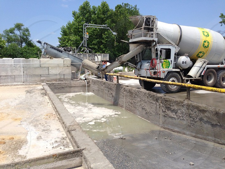 Concrete wastewater washout pit photo