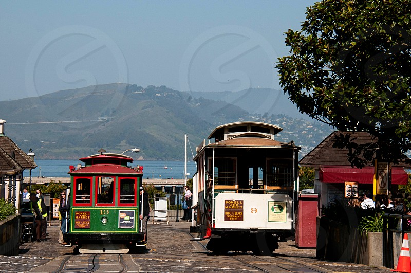 Cable cars in San Francisco photo
