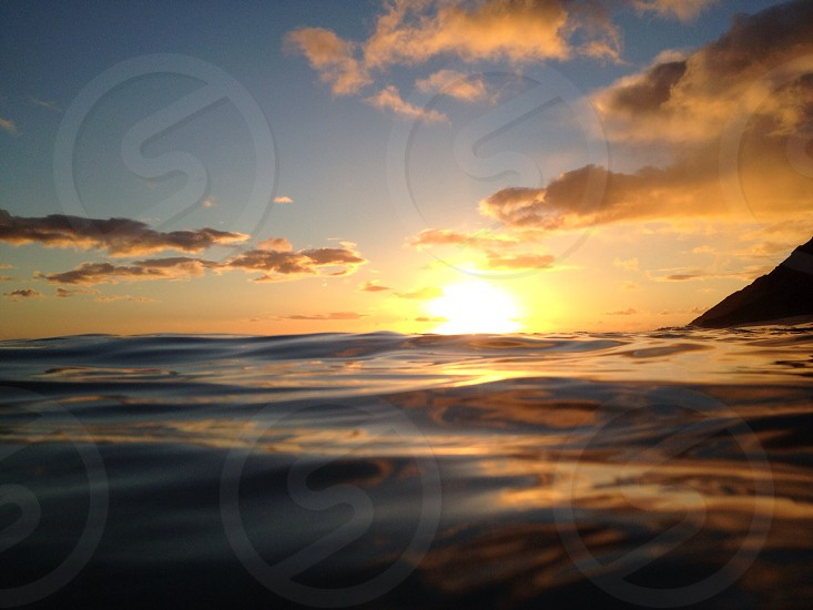ocean and sun view photo