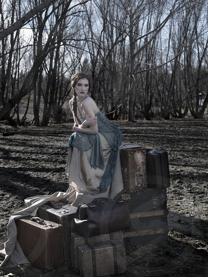 1/5 Forest Fairytale fashion editorial. Model: Nicole Miller. Makeup/Hair: Delany Bachewich. Styling/Props: Glynnis Mutch. photo
