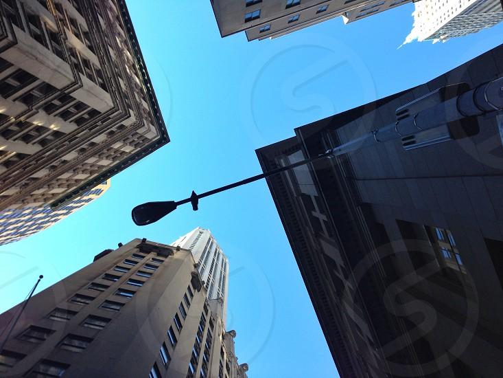 Metal street lamp photo