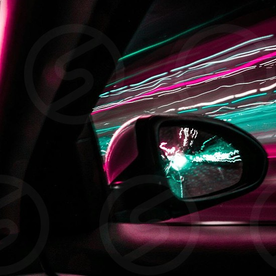 pictures took it by longe exposure inside the car photo