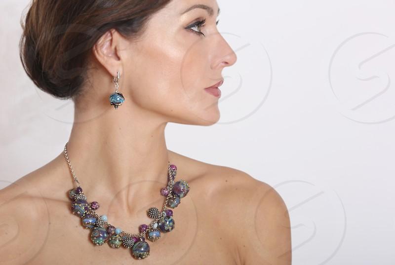 Models. Handmade Jewelry. Woman. Lady.  photo