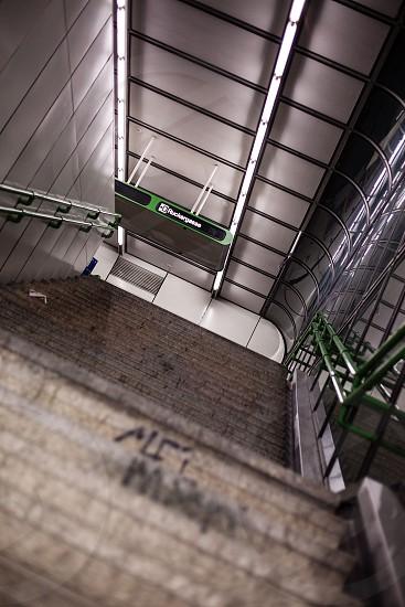 underground Vienna stairs photo