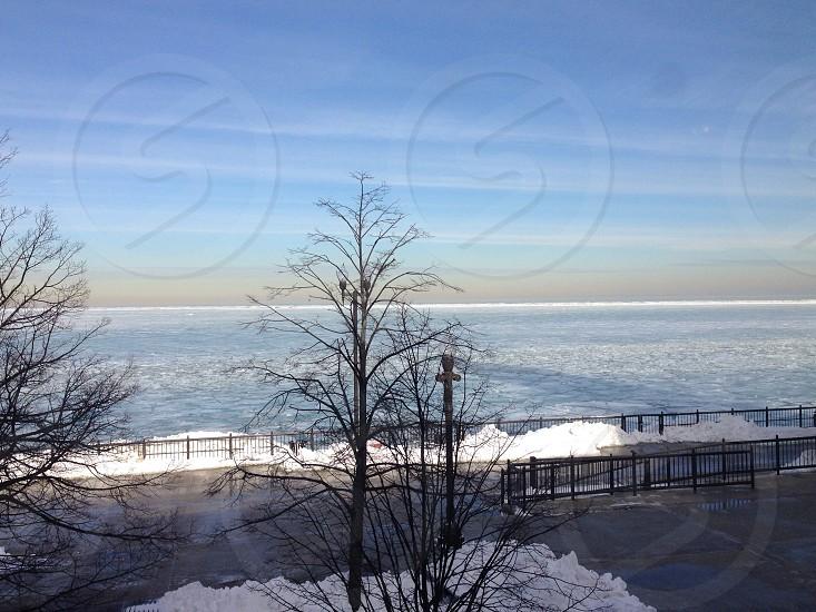 Lake Michigan frozen photo