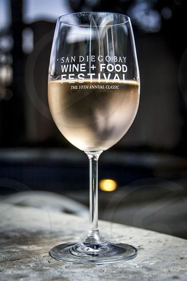 San Diego Wine + Food Festival white wine dusk sunset pool wine glass photo