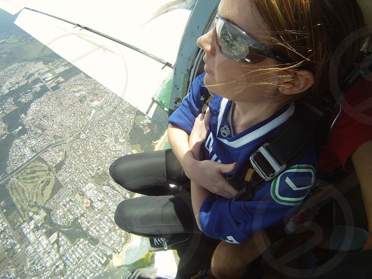 Skydiving scared nervous adventure plane heights photo