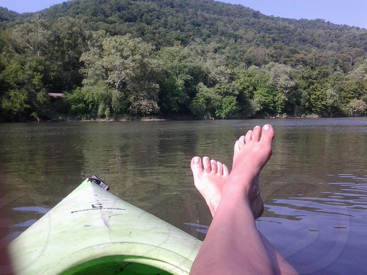 kayaking on beautiful Kanawha River West Virginia photo