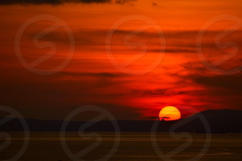Sunset in Sihanoukville Cambodia. photo