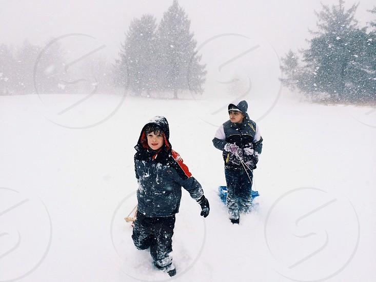 childrens black and orange hoody photo