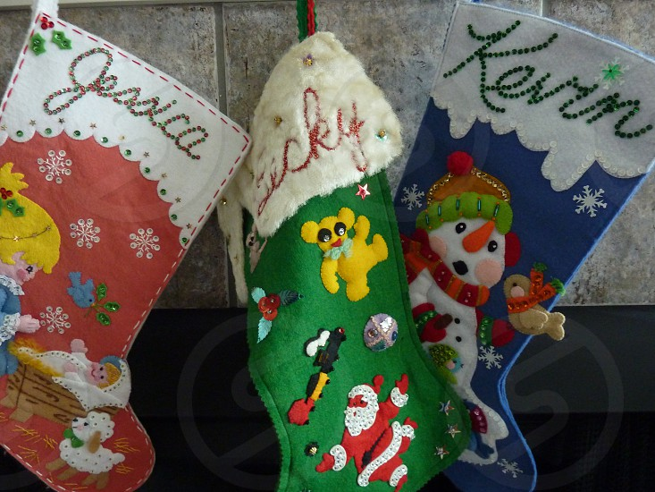 stockings hung by the chimney with care photo