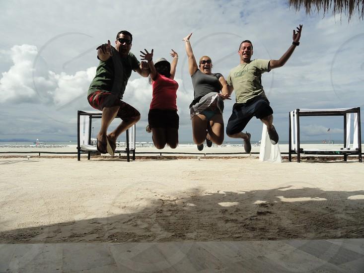 Friends on the beach Isla de Coche Venezuela photo