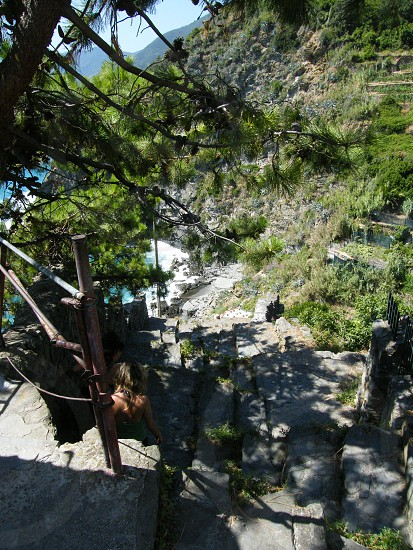 Stairs to the beach Cinque Terre (Italy) photo
