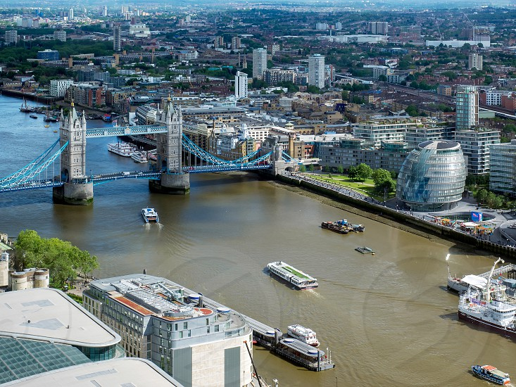 View of Tower Bridge and City Hall in London photo