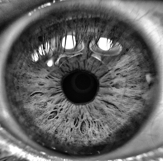 human silver naked eye  photo