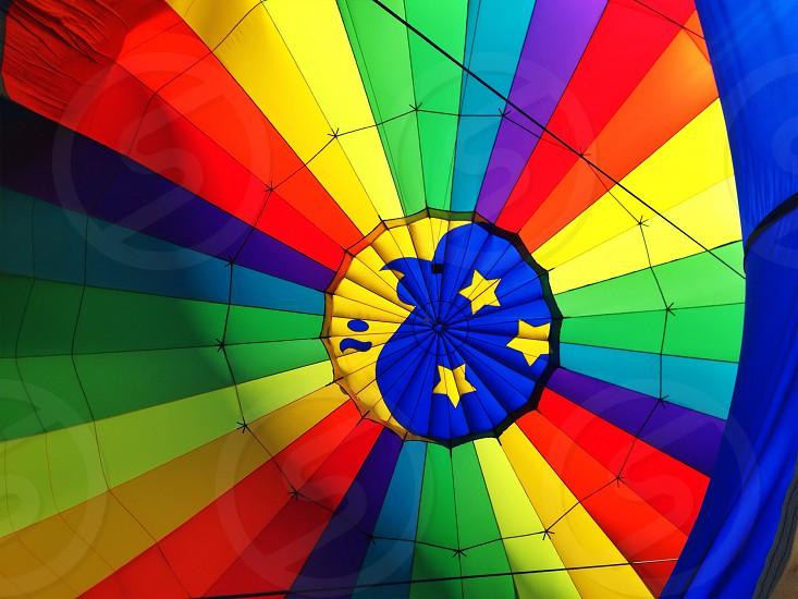 multicolored  hot air balloon  photo