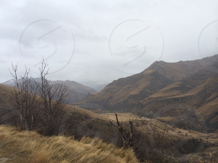 A moody day at Skippers Canyon Queenstown New Zeland photo
