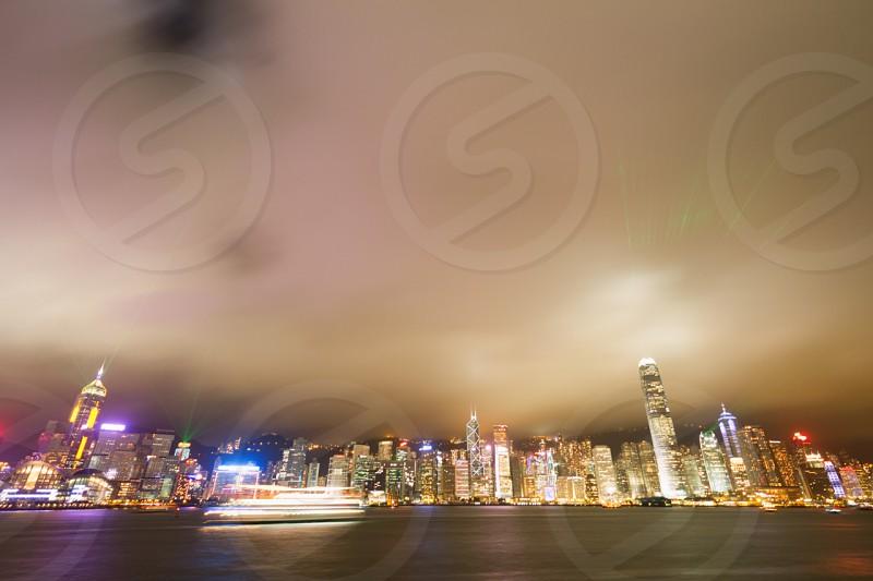 Hong Kong Night Long Exposure photo