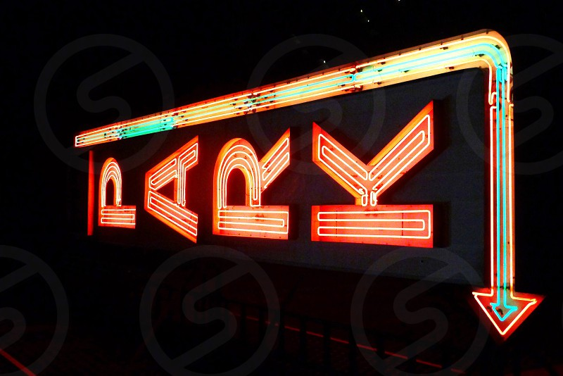 Neon Parking Sign NYC photo