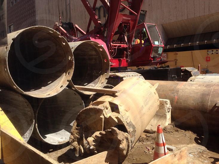 Labor day construction site  photo