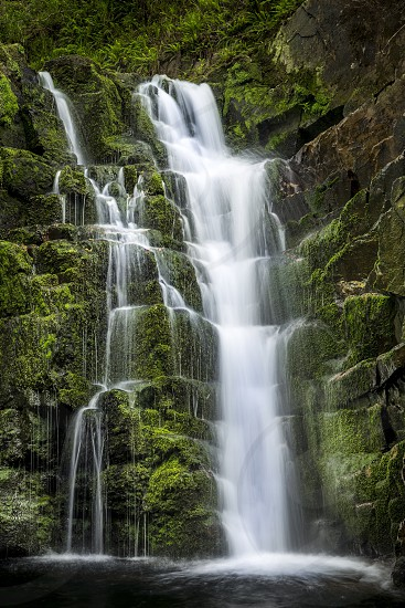 photography of waterfalls photo