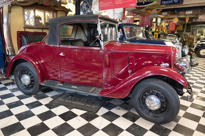 Classic Car 1937 Austin Clifton in the Motor Museum at Bourton-on-the-Water photo