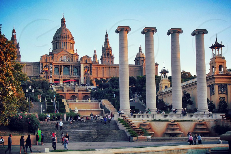 The Palau Nacional (en: National Palace) situated in Montjuïc (Barcelona) is a palace constructed between the years 1926 and 1929 for the 1929 International Exhibition in Barcelona. Since 1934 it has been home to the National Art Museum of Catalonia.  photo