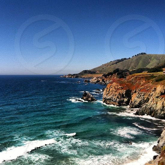 California coastline along the Pacific Coast Highway photo