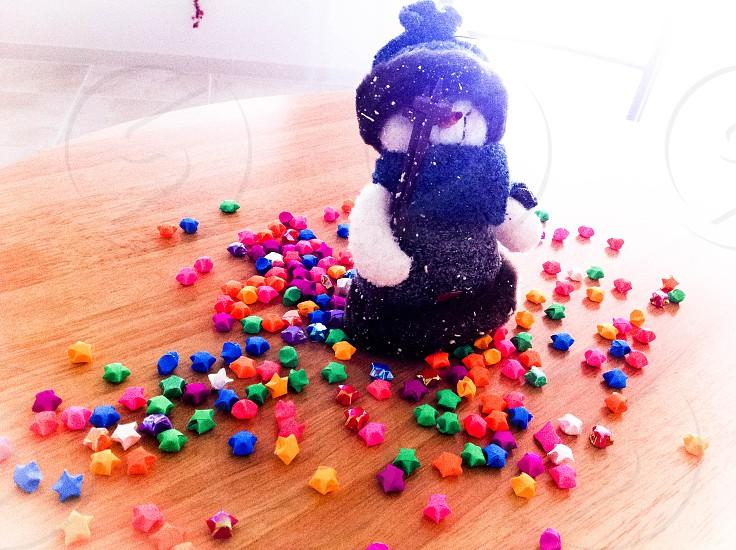 snowman stars décor christmas photo