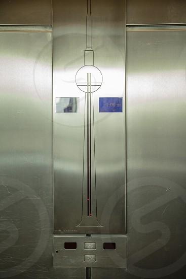 Elevator panel inside the TV Tower of Berlin photo