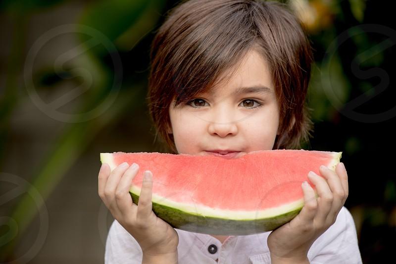 Fruit watermelon organic kids photo