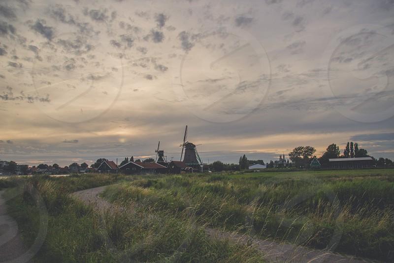 ZaanseSchans holland netherlands travel landacape nature windmills green vacation outdoors fun beautifull photo
