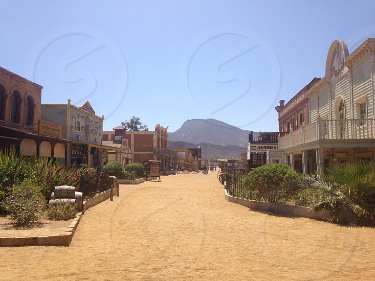 Wild West film set photo