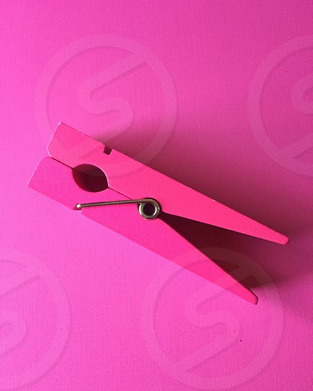 Pink Paperclip on Pink photo