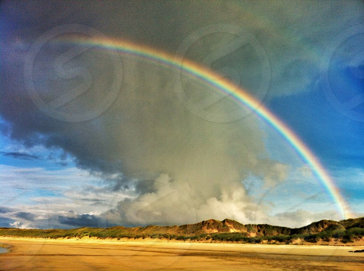 Beach rainbow  photo