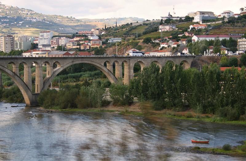 cement bridge over river photo