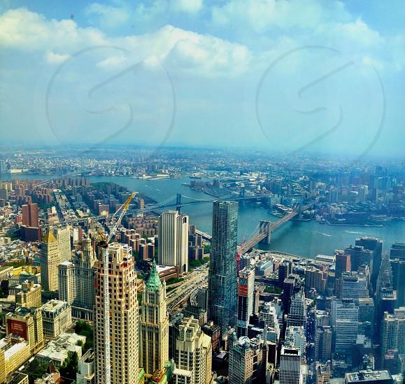 New York City skyline bridges  photo
